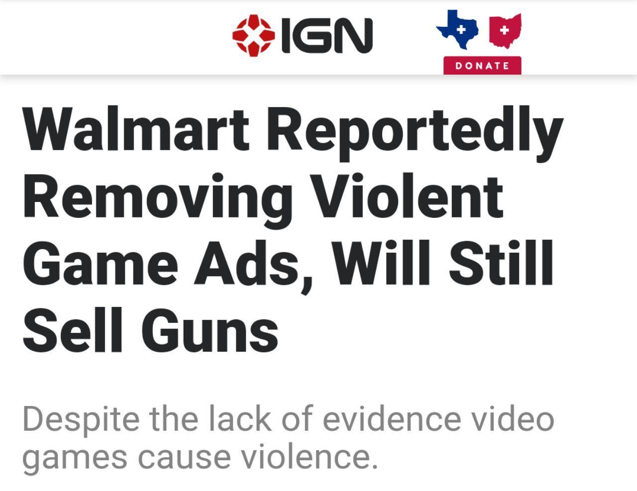 walmart videogiochi violenti