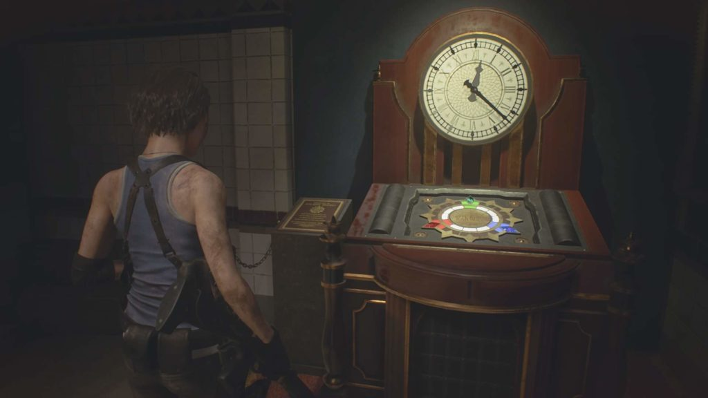 resident evil 3 remake puzzle orologio